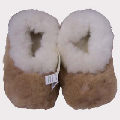 Pantoufles fourrure alpaga Huacaya