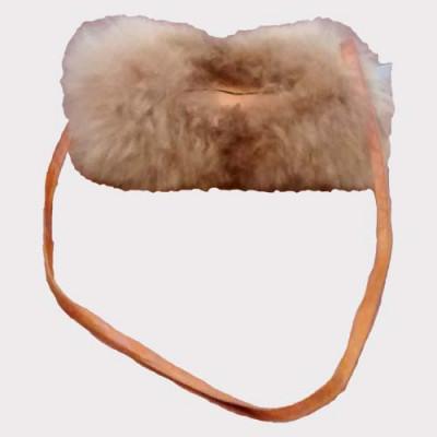 Manchon avec pochette sac à main de fourrure bébé alpaga